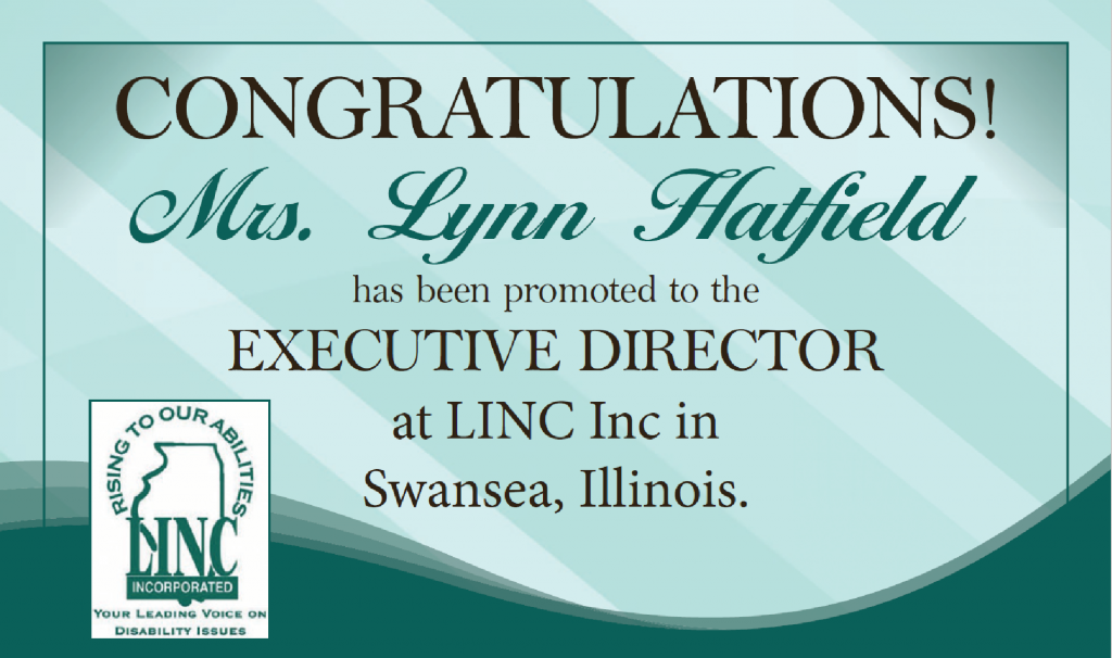 Congratulations to Mrs. Lynn Hatfield. New executive Director