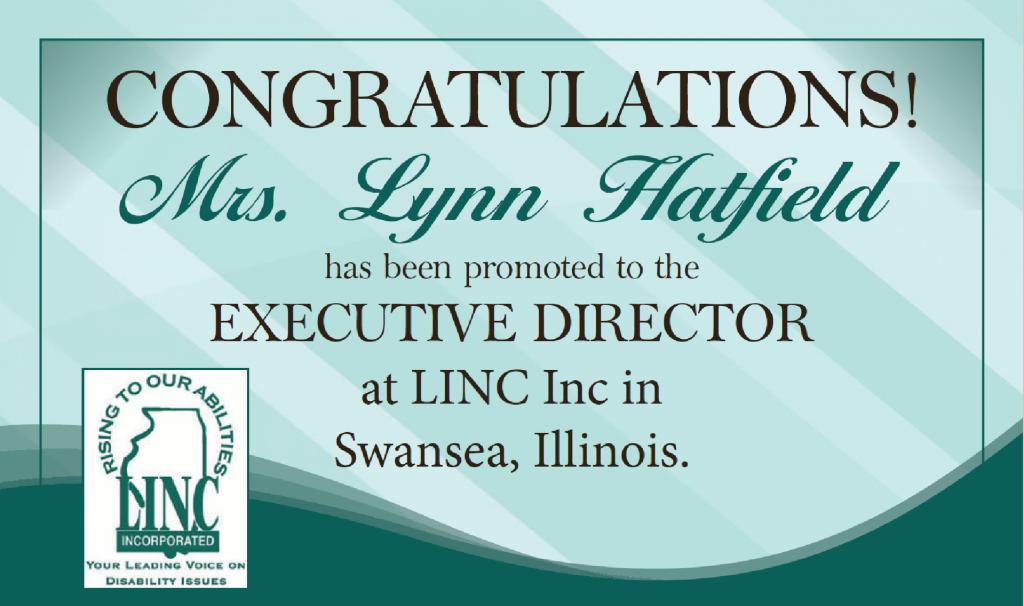 Congratulations to Mrs. Lynn Hatfield. New executive Director